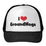 Amo Groundhogs Gorros Bordados