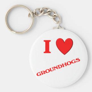 Amo Groundhogs Llavero Personalizado