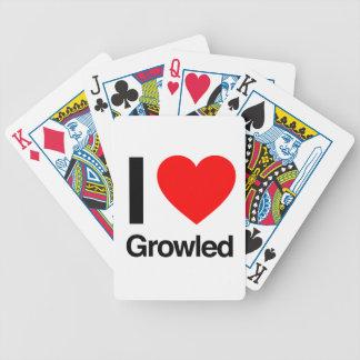amo gruñido baraja de cartas