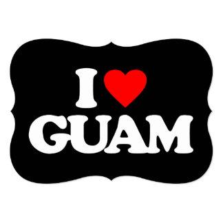 """AMO GUAM INVITACIÓN 5"""" X 7"""""""