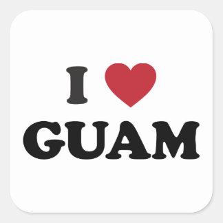 Amo Guam Calcomanías Cuadradass