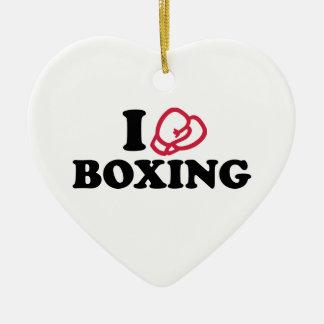 Amo guantes de boxeo ornamentos de reyes