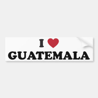 Amo Guatemala Pegatina Para Auto