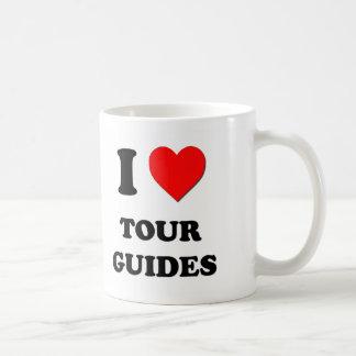 Amo guías turísticos taza básica blanca