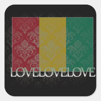 Amo Guinea fresca Pegatina Cuadrada