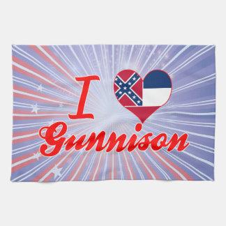 Amo Gunnison, Mississippi Toallas De Cocina