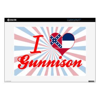 Amo Gunnison, Mississippi Calcomanía Para Portátil