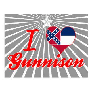 Amo Gunnison, Mississippi Tarjetas Postales