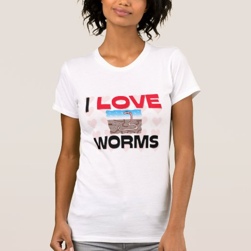 Amo gusanos camisetas