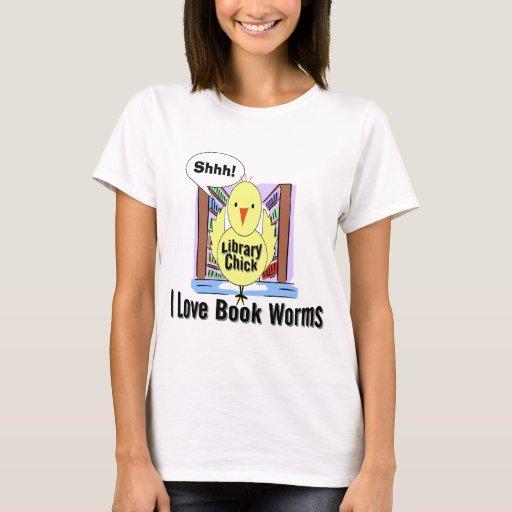 Amo gusanos de libro playera