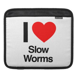 amo gusanos lentos mangas de iPad