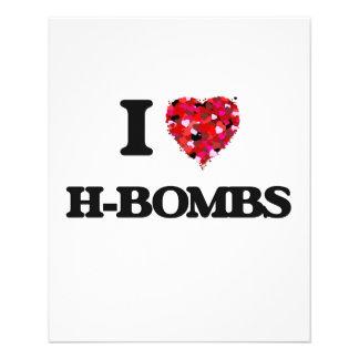 "Amo H-Bombas Folleto 4.5"" X 5.6"""