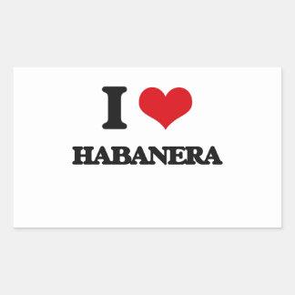 Amo HABANERA Rectangular Pegatina