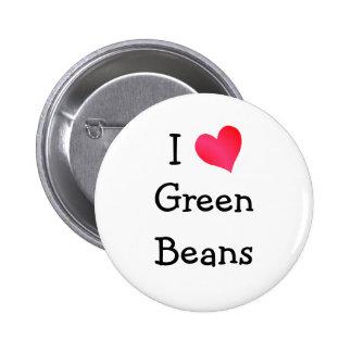 Amo habas verdes pin redondo de 2 pulgadas