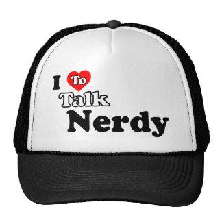 Amo hablar el gorra Nerdy