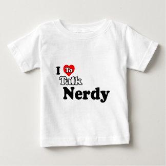 Amo hablar la camiseta Nerdy del niño/del niño Remeras
