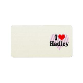 Amo Hadley Etiquetas De Dirección