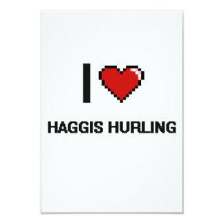 Amo Haggis que lanza el diseño retro de Digitaces Invitación 8,9 X 12,7 Cm