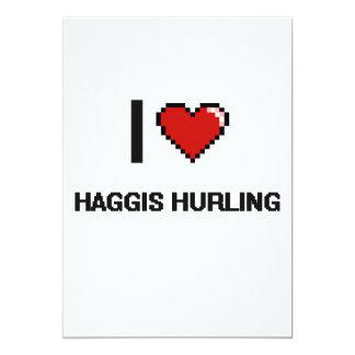 Amo Haggis que lanza el diseño retro de Digitaces Invitación 12,7 X 17,8 Cm