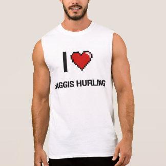 Amo Haggis que lanza el diseño retro de Digitaces Camiseta Sin Mangas