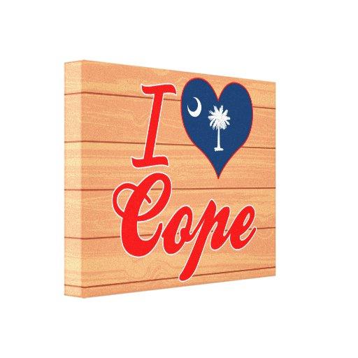 Amo hago frente, Carolina del Sur Lona Envuelta Para Galerias