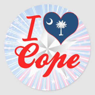Amo hago frente, Carolina del Sur Pegatina Redonda