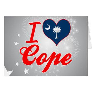 Amo hago frente, Carolina del Sur Tarjeta De Felicitación