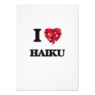 """Amo Haiku Invitación 5"""" X 7"""""""