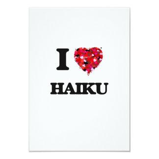 """Amo Haiku Invitación 3.5"""" X 5"""""""