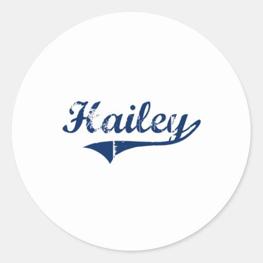 Amo Hailey Idaho Pegatina Redonda