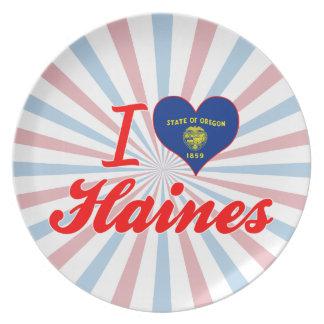 Amo Haines, Oregon Plato Para Fiesta