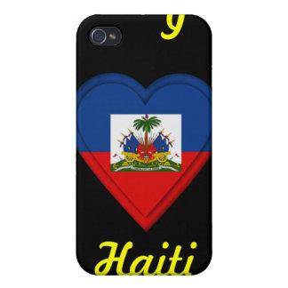 Amo Haití iPhone 4 Fundas