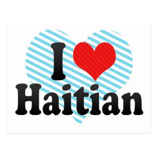 Amo haitiano tarjetas postales