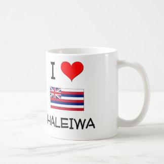 Amo HALEIWA Hawaii Taza Básica Blanca