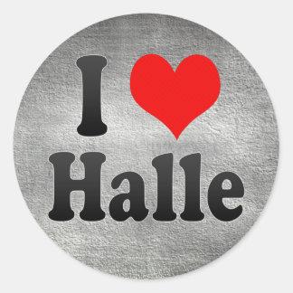 Amo Halle, Alemania Pegatina Redonda