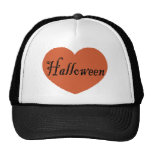 Amo Halloween con el corazón anaranjado de Hallowe Gorras De Camionero