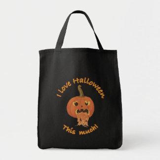 ¡Amo Halloween este mucho! Bolsa Tela Para La Compra