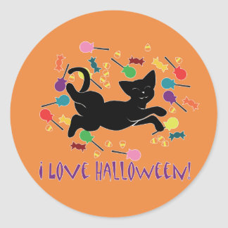 ¡Amo Halloween! Etiqueta Redonda