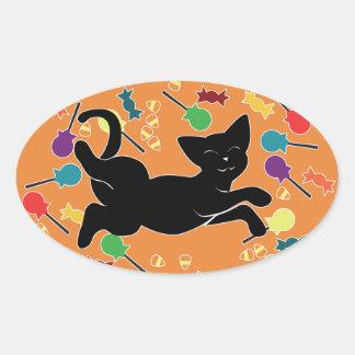 ¡Amo Halloween! Colcomanias Oval Personalizadas
