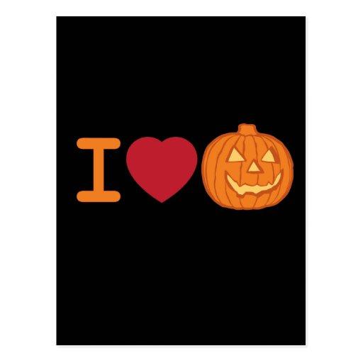 Amo Halloween Postal