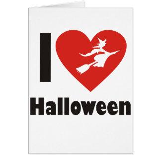Amo Halloween Tarjeta De Felicitación