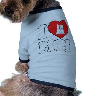 Amo Hamburgo HH Camiseta De Perrito