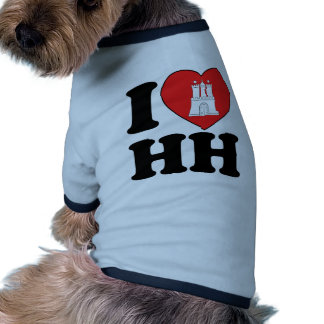 Amo Hamburgo HH Camisetas De Mascota