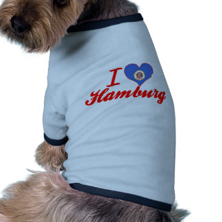 Amo Hamburgo Minnesota Camisas De Mascota