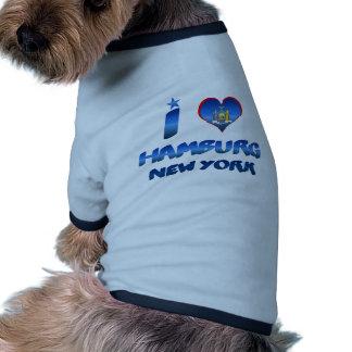Amo Hamburgo Nueva York Camisetas Mascota