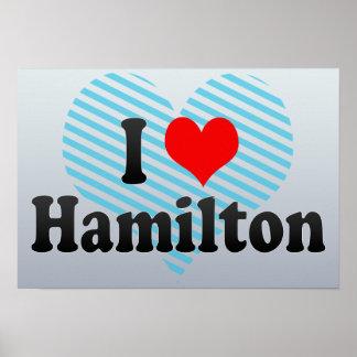 Amo Hamilton Canadá Posters