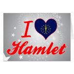 Amo Hamlet, Indiana Tarjetas