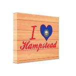 Amo Hampstead, New Hampshire Impresión En Lienzo Estirada