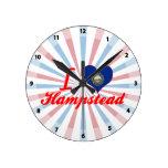 Amo Hampstead, New Hampshire Reloj De Pared