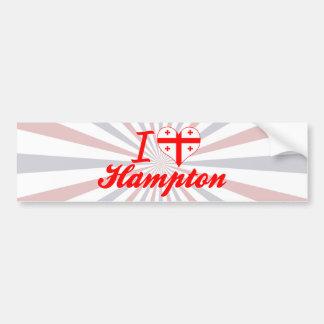 Amo Hampton, Georgia Etiqueta De Parachoque